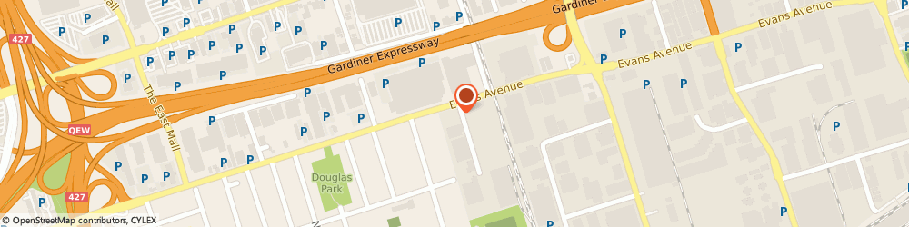 Route/map/directions to Dupont Auto Centre Used Car Dealership, M8W 2T3 Toronto, 423 Evans Avenue