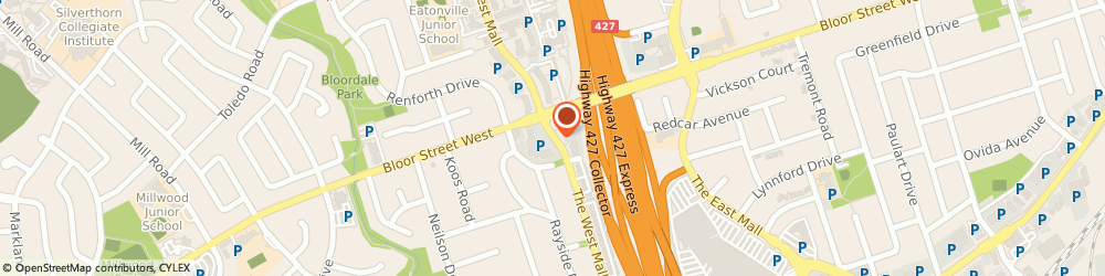 Route/map/directions to RBC Royal Bank of Canada, M9C 1C6 Etobicoke, 290 The West Mall