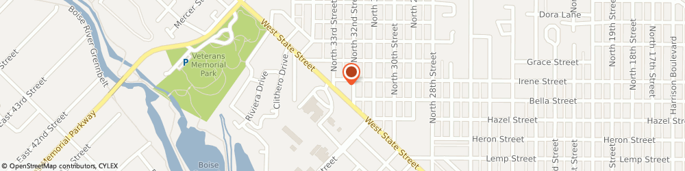 Route/map/directions to Jack in the Box, 83703 Boise, 3220 W State St