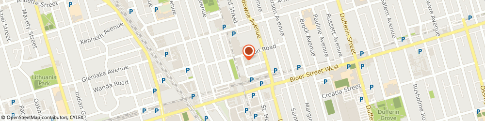 Route/map/directions to Bg Screen Fabrication Inc., M6H 1P5 Toronto, 87 Wade Ave