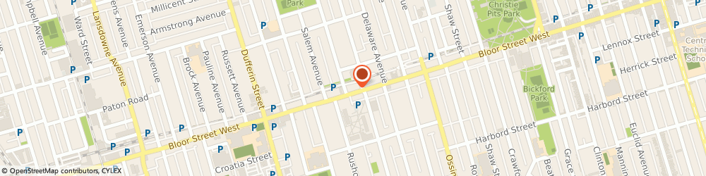 Route/map/directions to Body & Soul Massage Therapy, M6S 1N2 Toronto, 2195A Bloor Street West