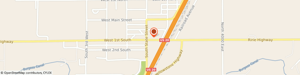 Route/map/directions to Navy Federal Credit Union, 83442 Rigby, 183 South State Street