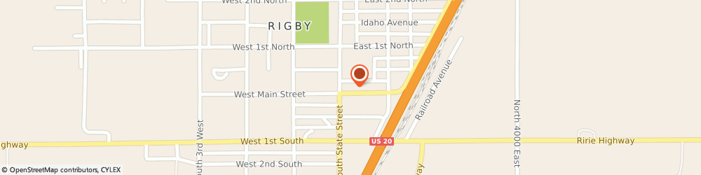 Route/map/directions to Farmers Insurance Group, 83442 Rigby, 123 E Main St