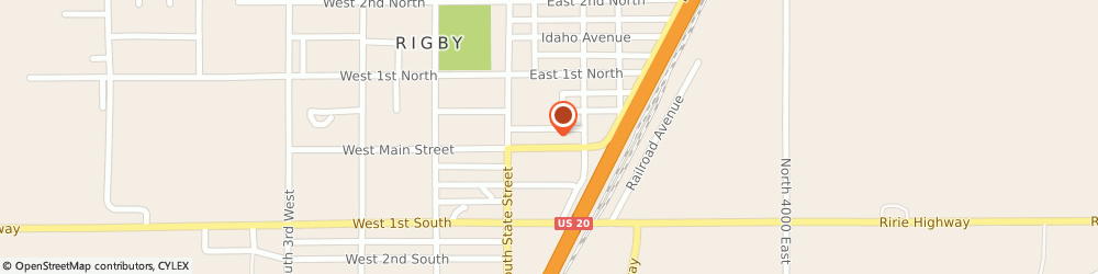 Route/map/directions to Safeco Insurance Agent, 83442-1417 Rigby, 153 E Main St