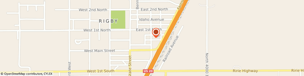 Route/map/directions to State Farm Insurance, 83442 Rigby, 205 E Fremont Ave