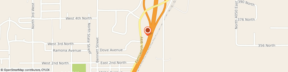 Route/map/directions to Farmers Insurance, 83442 Rigby, 392 Farnsworth Way