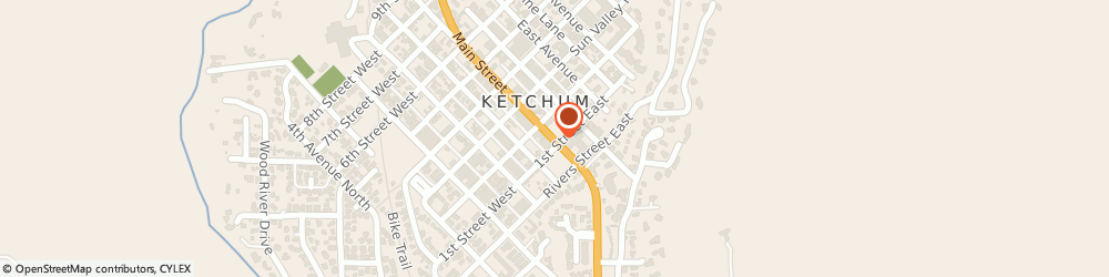 Route/map/directions to Atm Great Western Bank, 83340 Ketchum, 111 Main Street