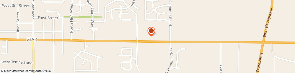 Route/map/directions to Central Self Storage,Star, 83669 Star, 9870 West State Street