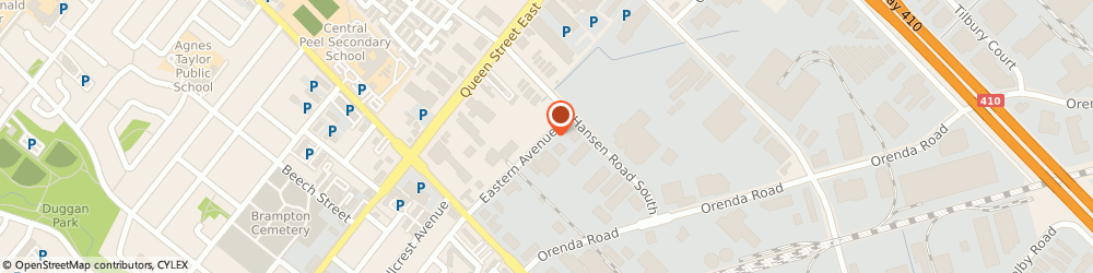 Route/map/directions to J & A Auto Service Inc, L6W 1X9 Brampton, 79 Eastern Ave