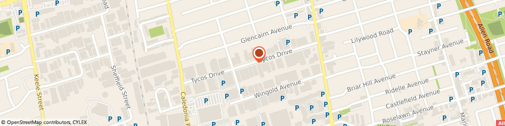 Route/map/directions to canadian pharmacy, M5T 1T4 Toronto, 2220 Tycos Dr