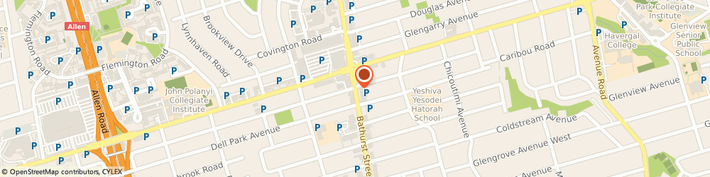 Route/map/directions to Coffee Time Donuts - Stores, M6B 3B6 North York, 3032 BATHURST STREET