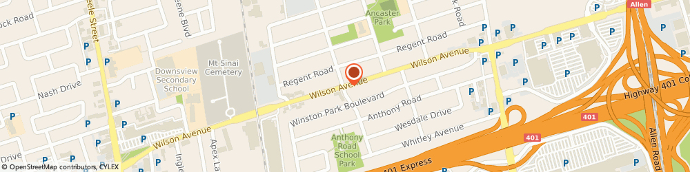 Route/map/directions to Scotiabank, M3K 1E6 North York, 909 Wilson Ave