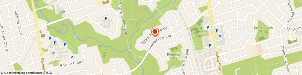 Route/map/directions to Skin Care Toronto, M2H 1G4 North York, 27 Bruce Farm Drive