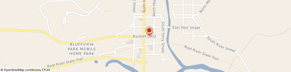 Route/map/directions to Community Action Partnership, 55971 Rushford, 204 South Elm, P.O. Box 549