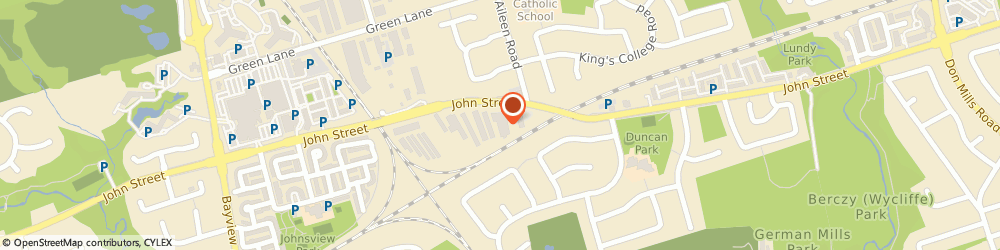 Route/map/directions to Coffee Time, L3T 5W5 Toronto, 385 John St., At Bayview Ave.