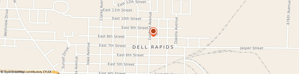 Route/map/directions to St Mary Catholic Church, 57022 Dell Rapids, 606 E. 8th St