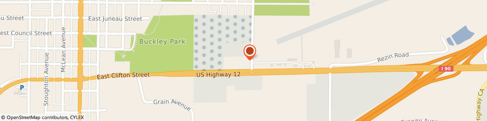 Route/map/directions to Quiznos, 54660 Tomah, 1030 E Clifton St