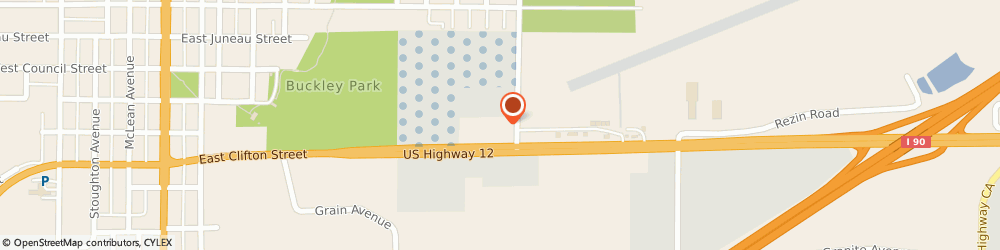 Route/map/directions to Quiznos BP - Highway 12 and 16, 54660 Tomah, 1030 E Clifton St
