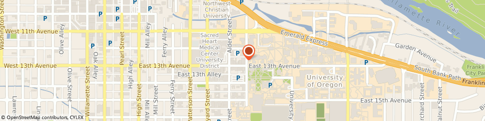 Route/map/directions to Bank of America, 97403 Eugene, 895 E 13TH AVE