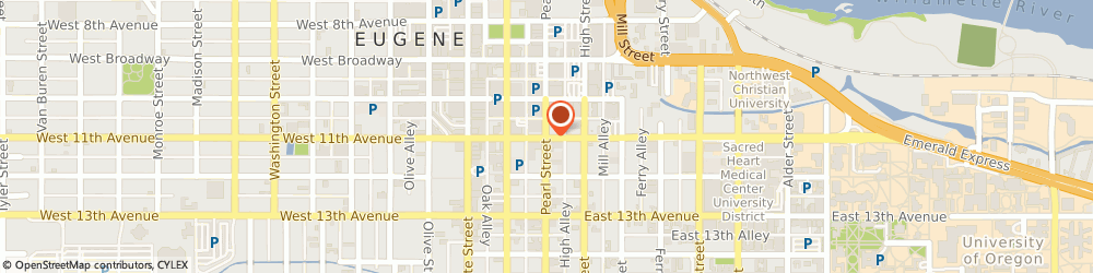 Route/map/directions to Bank of America, 97401 Eugene, 201 E 11TH AVE