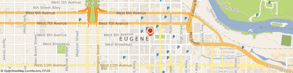 Route/map/directions to U S BANK, 97401 Eugene, 800 WILLAMETTE ST STE 100