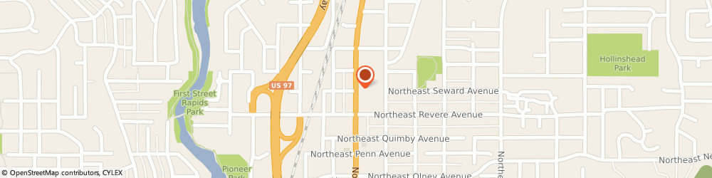 Route/map/directions to Ashleys Cafe North, 97701 Bend, 1910 NORTHEAST 3RD STREET