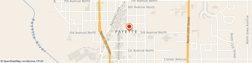 Route/map/directions to Farm Bureau Financial Services, Gary Williamson, 83661 Payette, 1505 3Rd Ave N