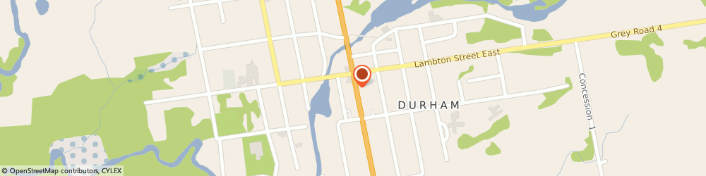 Route/map/directions to The Bookstore, N0G 1R0 Durham, 144 Garafraxa St. S.