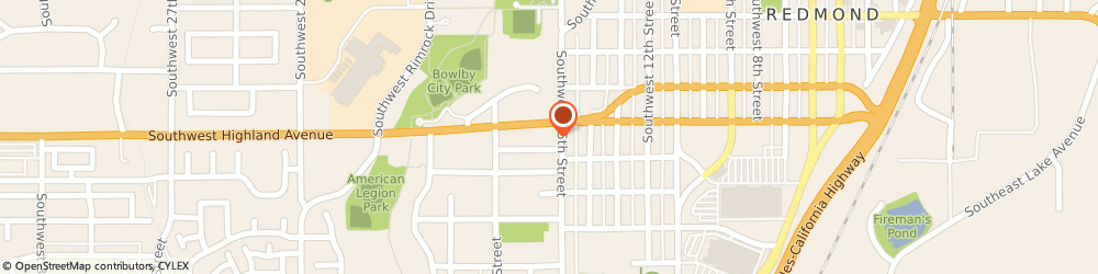 Route/map/directions to American Family Insurance - Agents, Mcclure Mike, 97756 Redmond, 1514 SOUTHWEST HIGHLAND AVENUE