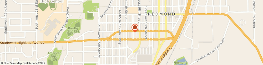 Route/map/directions to Farmers Insurance - Steven Hull, 97756 Redmond, 711 SW 10th St