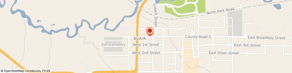 Route/map/directions to Safeco Insurance Agent, 54616-9367 Blair, 120 W Broadway St