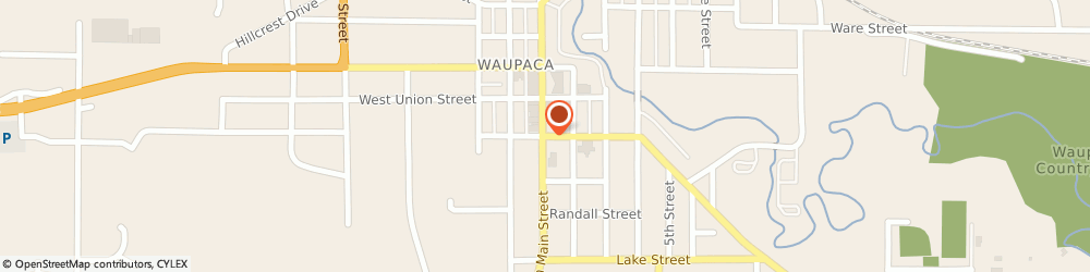 Route/map/directions to Little Caesars Pizza, 54981 Waupaca, 110 E. Badger