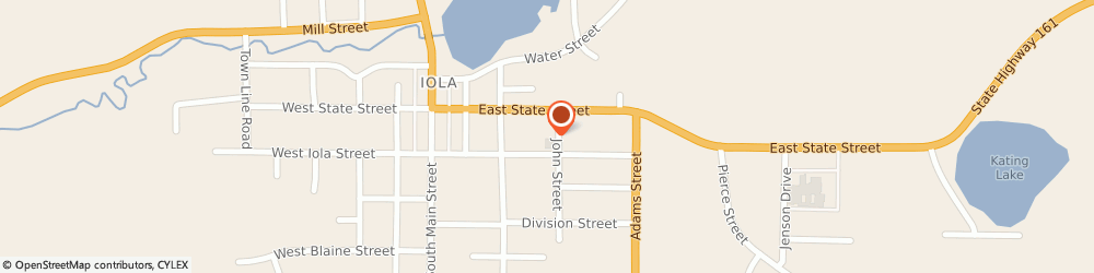 Route/map/directions to Our Saviour's Lutheran Church, 54945 Iola, 395 E Iola St