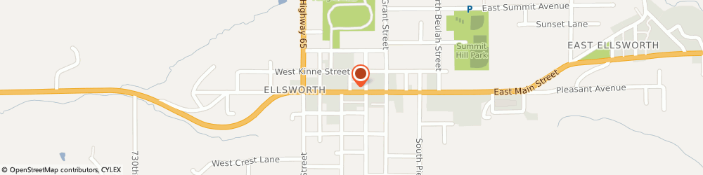 Route/map/directions to Subway, 54011 Ellsworth, 372 W Main St