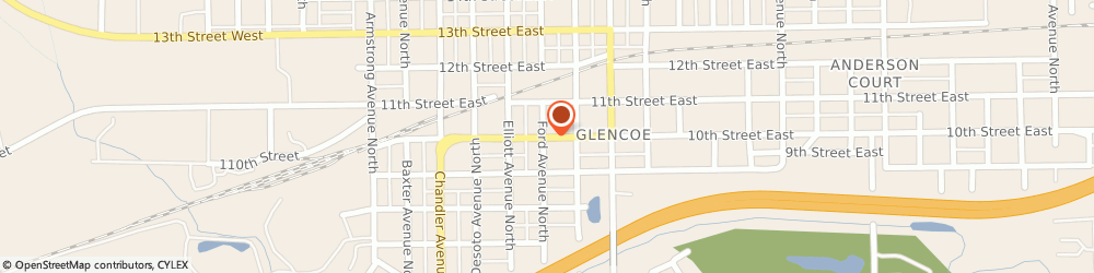 Route/map/directions to Professional Insurance Providers, 55336 Glencoe, 613 East 10th St