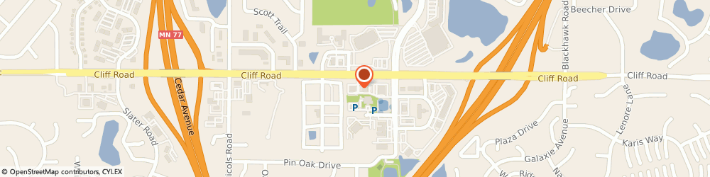 Route/map/directions to Radio Shack, 55122 Saint Paul, 2040 CLIFF RD # 105