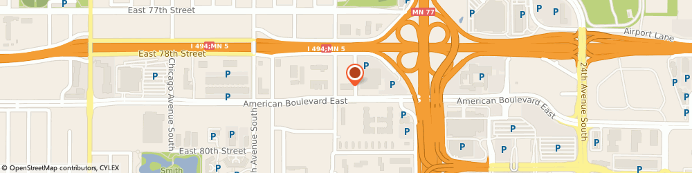 Route/map/directions to Aquent, 55425 Minneapolis, 1550 AMERICAN BLVD E