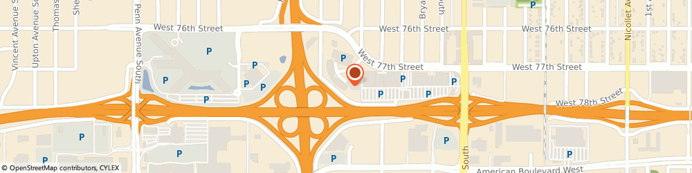 Route/map/directions to Citibank ATM, 55423 Richfield, 1 Meridian Crossings