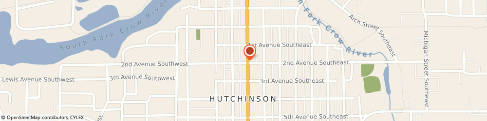 Route/map/directions to Sonoras Mexican Restaurant, 55350 Hutchinson, 15 2nd Ave SW