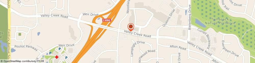 Route/map/directions to Radio Shack, 55125 Woodbury, 7060 VALLEY CREEK STE 105