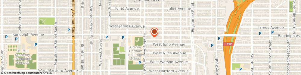 Route/map/directions to Associated Bank, 55105 Saint Paul, 1326 Randolph Avenue