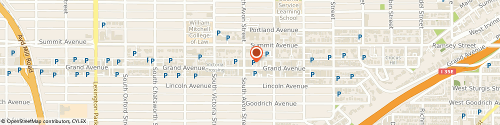 Route/map/directions to Ann Taylor Loft, 55105 Saint Paul, 791 Grand Ave