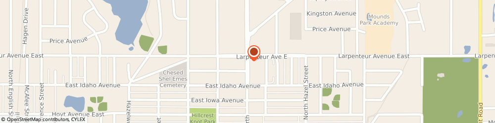 Route/map/directions to Radio Shack, 55106 Saint Paul, 1670 WHITE BEAR AVE N