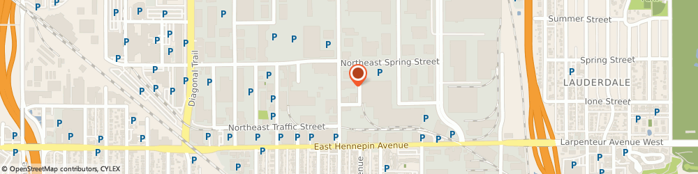 Route/map/directions to Duncan Co, 55413 Minneapolis, 425 Hoover St. NE