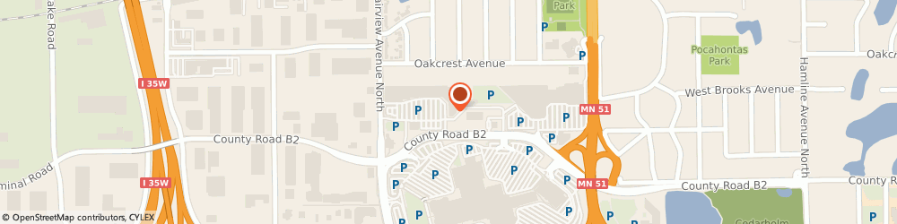 Route/map/directions to Radio Shack, 55113 Roseville, 2480 Fairview Ave N