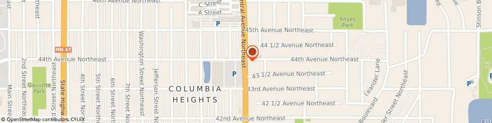 Route/map/directions to Little Caesars Pizza, 55421 Minneapolis, 4353 CENTRAL AVE NE