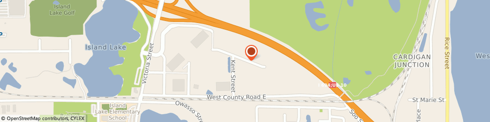 Route/map/directions to Extreme Design Concrete Msnry, 55126 Saint Paul, 556 Shoreview Park Rd