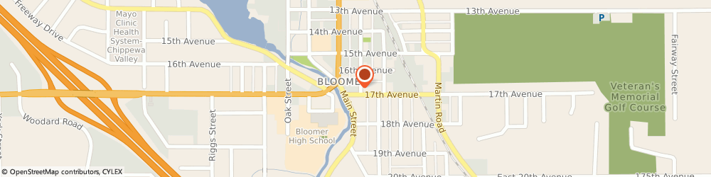 Route/map/directions to Navy Federal Credit Union, 54724 Bloomer, 1203 17Th Avenue