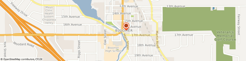 Route/map/directions to Citibank ATM, 54724 Bloomer, 1203 17Th Ave