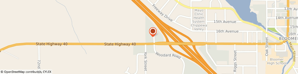 Route/map/directions to Navy Federal Credit Union, 54724 Bloomer, 1625 Woodard Rd.